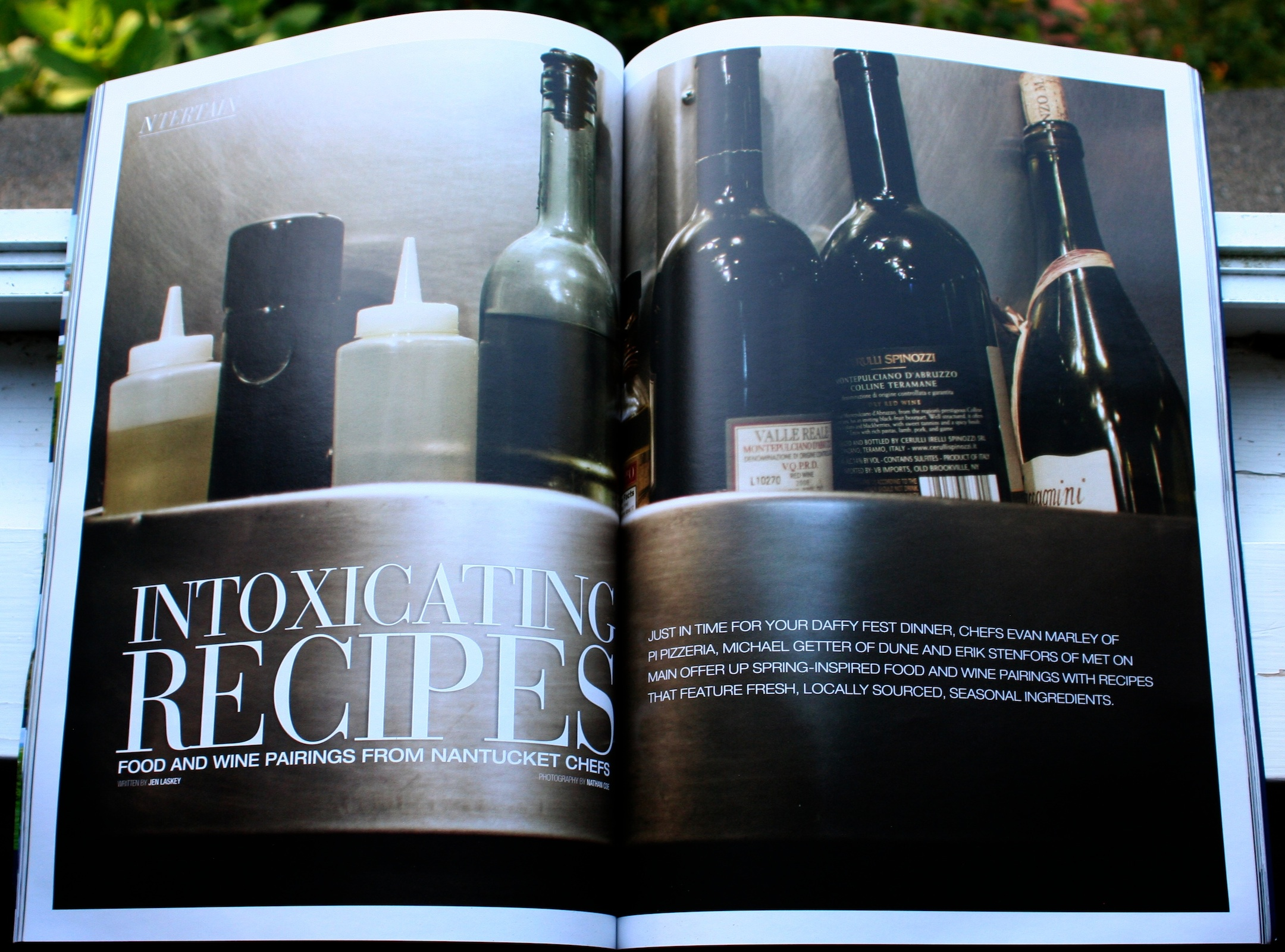 Intoxicating Recipes - Photo by Nathan Coe for Nantucket magazine