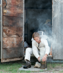 Beekeeper Dylan Wallace - Photo by Kit Noble for Nantucket Magazine